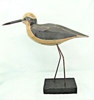Shore Bird Hand carved and painted wood on stand Beach decor (E)
