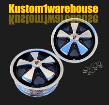 "911 Porsche Fuchs style VW Empi alloy wheels chromed & detailed 5x130 7""x17 Pr"