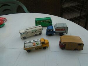 FIVE VINTAGE DIE-CAST-THREE LESNEY,ONE HUSKY AND ONE BUDGIE--