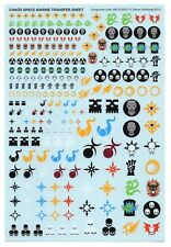 40k CHAOS SPACE MARINE TRANSFER DECAL SHEET Transfers Decals Warhammer CSM 2013