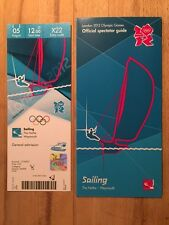 London 2012 Olympic ticket voile le nothe Ben Ainslie, 5 Août & Spectator Guide