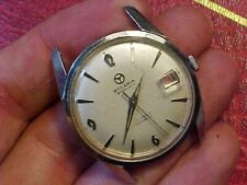 VINTAGE RODANIA  17J AUTOMATIC DATE STAINLESS MANS WATCH 333 FEET