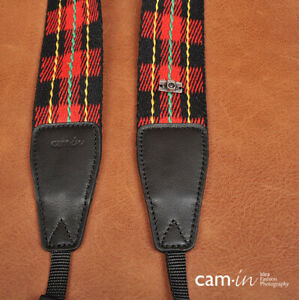 Tartan Pattern Cotton Adjustable DSLR Camera Neck Strap by Cam-in