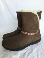 KEEN 4213 Womens Galena Brown Leather Winter BOOTS Shoes 10.5 Medium (b M) BHFO