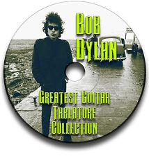 BOB DYLAN FOLK ROCK GUITAR TABS TABLATURE SONG BOOK SOFTWARE CD