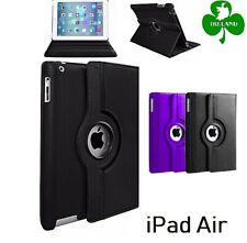 360 Rotating PU Leather Case Compatible For iPad Air Stand Cover New