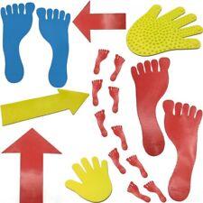 Bodenmarkierungen Zielmarkierungen Markier-Pfeile, Füße & Hände für Sport &Spiel