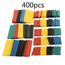 400pcs 8 Sizes Assorted 2 1 Heat Shrink Tubing Tube Wrap Sleeve Wire Cable Kit