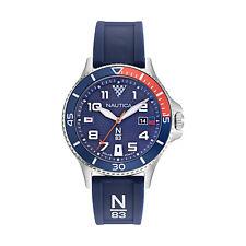 Nautica Men's Cocoa Beach NAPCBF916 Blue Silicone Quartz Fashion Watch