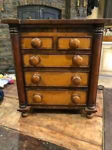 Antique Salesman's Sample 5-drawer Miniature Dresser