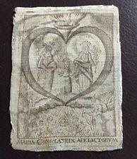 Antigüedades andachtsbild en seda (???) Santos