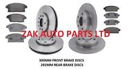 VAUXHALL ASTRA J MK6 1.4 1.7 2.0 CDTi FRONT AND REAR BRAKE DISCS AND PADS SET