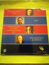 2013 US MINT PRESIDENTIAL P & D UNCIRCULATED 8-COIN DOLLAR SET