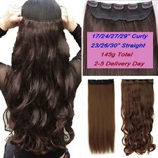 Clip In Hair Extensions,Real Thick Half Full Head ,Brown Black Blonde,17-30 Inch