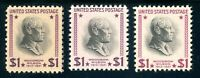 USAstamps Unused VF US $1 Presidential Set Scott 832, 832c, 832g Magenta OG MNH