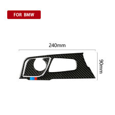 2x Carbon Fiber Shift Panel Trim Sticker M Stripe For BMW 5 Series G38 528Li 18