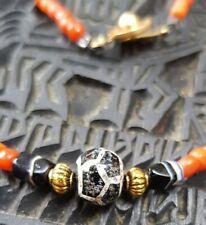 Tibetan Dzi bead Turtle Coral Guaranteed Genuine Ancient 1500 years+