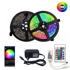 10m Waterproof LED RGB Strip Light SMD 2835 Lamp Remote Control Power UK Adapter