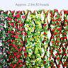 2.3m Artificial Rose Garland Silk Flower Vine Ivy Wedding Party Decor