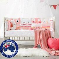Baby Bumper Owl or Forest Theme Cotton Nursery Thick Cot Crib Bed Safety Protect
