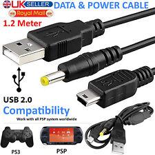 USB-A a Mini Conector Macho 5 Pin Cable Cargador de Alimentación DC 5 V 2 A para PC Laptop Psp PS3