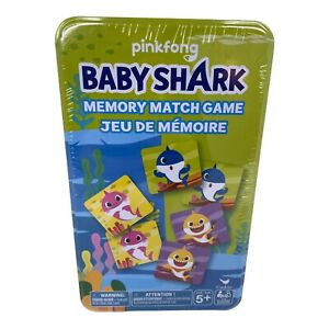 Pink Fong Baby Shark Memory Match Card Game New/Sealed Hard to Find! NEW SEALED