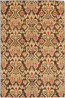 4X6 Hand-Knotted Oushak Carpet Traditional Brown Fine Wool Area Rug D48877