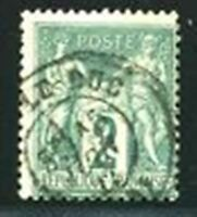 "FRANCE STAMP TIMBRE N° 74  ""  SAGE  2c  VERT TYPE II  "" OBLITERE TB."