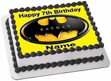 BATMAN  REAL EDIBLE ICING CAKE TOPPER PARTY IMAGE FROSTING SHEET