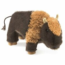 Folkmanis High Quality Puppets Play Pretend Fun Animal Puppets (Small Bison)