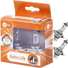 2x Ge H4 Lámpara de Auto General Electric Extra Vida 50440DPU Longlife Ll P43t
