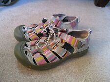 Keen Girls Newport H2 Sandals Size 5 Multi-Color/Pink Waterproof