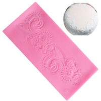New Flower Lace Silicone Mould Fondant Sugar Craft Mat Mold Cake Decoration Tool