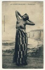 Guinea native Beauty W nude Breast/Nude Bellezza * VINTAGE 1910s ethnic PC