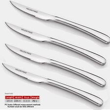 YELLOWPRICE 18/10 No-Slip Stainless Steel 4-Piece Steak Knife Set