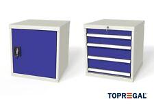 Werkzeugschrank Stahlschrank Werkstattschrank, mit Schubladen/Türen, T:60/80cm