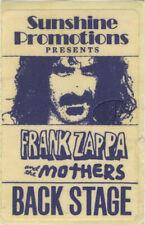FRANK ZAPPA & Mothers 1971 Backstage Pass