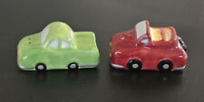Charming Car Salt & Pepper Shakers by WCL: Pepper is Green / Salt is Red - New