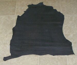 (MGA8429) Hide of Blue Grey Printed Lambskin Finished Back Leather Hide Skin