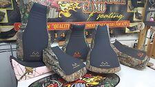 Honda rancher 400 seat cover REALTREE black & camo 04-06 black or orange stitch