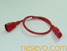 PWR C13 C14 -02FT/0.6m-red PWR jumper cord  - VAT-Free-Netto Preis