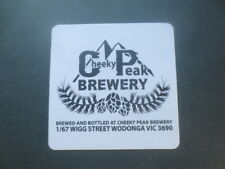 1 only CHEEKY PEAK Micro Brewery,Wodonga,Victoria special issue  COASTER