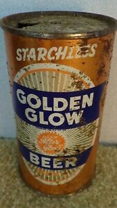 *OLD* Starchless Golden Glow Flat Top Beer can