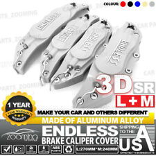 "Metal 3D ENDLESS Universal Style Brake Caliper Cover 4pcs Silver 10.5"" LW04"