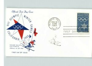 Winter OLYMPIC GAMES, Squaw Valley, California, 1960 First Day of Issue
