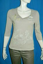 ANA ISABEL COLLECTION Taille L - 40 Superbe tee shirt beige manches 3/4 femme T