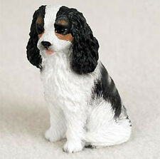 CAVALIER (black white) TINY ONES DOG Figurine Statue Pet Lovers Gift Resin