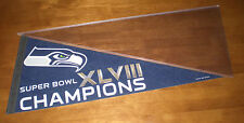 2014 SEATTLE SEAHAWKS SUPER BOWL XLVIII CHAMPIONS PENNANT - NEW