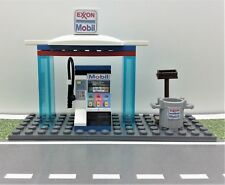 LEGO Custom Exxon Mobil Gas Station. ATM & MORE. Ready To Play