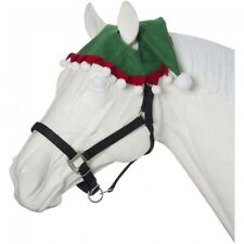 2 EAR Holiday Christmas Horse Pony Green Red White ELF Hat Photo Parade Cards